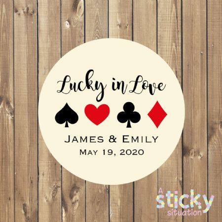 Personalised 'Lucky in Love' Stickers